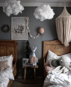 diy home decor bedroom small rooms Kids Room Inspiration Nursery Decor, Bedroom Decor, Ikea Bedroom, Bedroom Furniture, Bedroom Ideas, Bedroom Small, Small Rooms, Cloud Bedroom, Kid Rooms