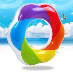 2017 New Girl Women Swimming Ring Rainbow Inflatable Pool Float Summer Water Fun Pool Toy Kids Swimming Pool Accessories Giant Pool Floats, Floating Raft, Swimming Pool Accessories, Children Swimming Pool, Inflatable Float, Pool Toys, Cool Pools, Summer Fun, Summer Things