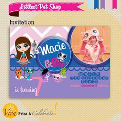 Littlest Pet Shop Party  Printable Birthday by VivaPrintCelebrate