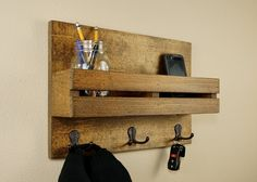 Entry Organizer Key Holder an Coat Rack by HomesteadTraditions