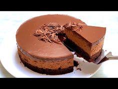 chocolate mousse cake recipe l Chocolate mousse cake - YouTube Choclate Mousse, Toblerone Chocolate, Triple Chocolate Mousse Cake, Baking Recipes, Cake Recipes, Party Recipes, Party Desserts, Dessert Party, Chocolate Recipes
