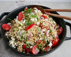 Easy Salad Recipes, Easy Salads, Healthy Recipes, Healthy Fit, Roasted Meat, Roasted Vegetables, Cottage Cheese Salad, Feta Salat, Salad Dishes