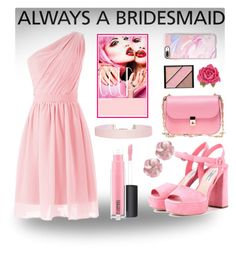 """Always a Bridesmaid"" by mayopotato2005 ❤ liked on Polyvore featuring MAC Cosmetics, Prada, Valentino, Elizabeth Arden, Tarina Tarantino, Casetify, Humble Chic, pastel and alwaysabridesmaid"