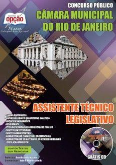 Apostila Concurso Público Câmara Municipal do Rio de Janeiro / 2014: - cargo: Assistente Técnico Legislativo