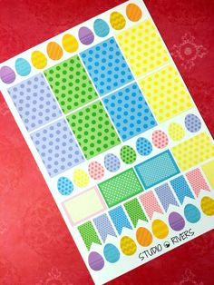 Easter Planner Stickers Set/Easter Kit/Erin by StudioRivers