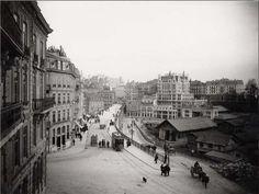 Lausanne, Bel Air, Switzerland, Louvre, Street View, Architecture, Mercier, Building, Places