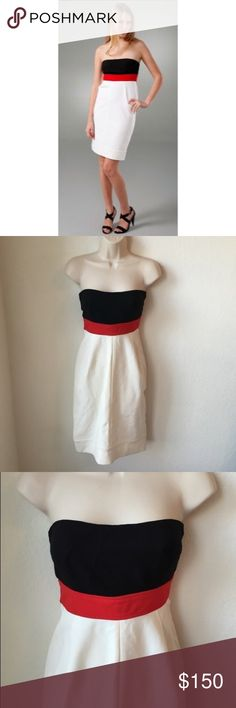 Diane Von Furstenberg Rhythm Dress DVF rhythm strapless Colorblock dress size 6 - new with out tags Diane von Furstenberg Dresses Strapless