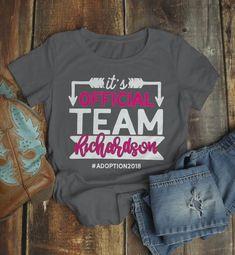 436e0b28 Women's Personalized Adoption T Shirt Matching Custom Family Shirts Adopt  Adopting Tee