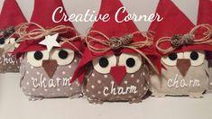 Christmas owls name badges to hang Christmas Crafts To Make, Christmas Owls, Christmas Time, Christmas Decorations, Christmas Ornaments, Holiday Decor, Owl Crafts, Handmade Design, Fabric Crafts