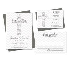 Cross Wedding Invitation Printable Set by SweetTeaAndACactus