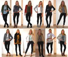 Black Skinny Jeans spring fall winter wardrobe/pack