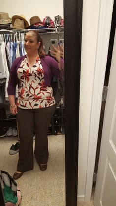 1.13.16, Ann Taylor top and cardigan, NY & Co pants