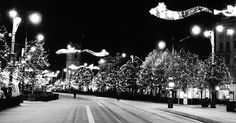 Winter lights in Debrecen, Piac Street