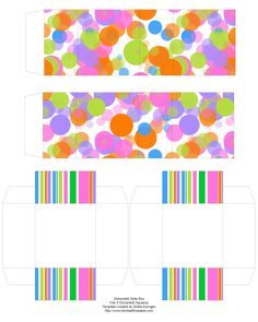 Don't Eat the Paste: Spring Color Slide Box- Ghirardelli Squares