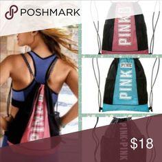 Victoria Secret Pink drawstring backpack Soft begonia NWT PINK Victoria's Secret Bags Backpacks