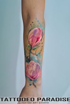 Watercolor Magnolia by dopeindulgence