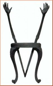 Design antropomorphique, Hands Chair, Salvador Dali, 1936