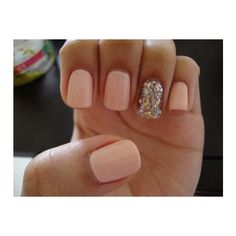 Calgel with glitter ($ 56) by MoMo | Yelp, found on #polyvore. #nails #pictures nail art