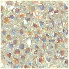 48 4mm Xilion Bicone 5328 Crystal AB 2X Swarovski Crystals Clear