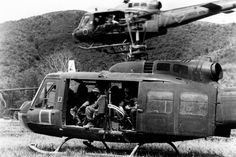 US Army Bell Iroquois (Huey) helicopters in Vietnam Vietnam History, Vietnam War Photos, Vietnam Veterans, Military Helicopter, Military Aircraft, Military Pictures, Iroquois, Wtf Fun Facts, War Machine