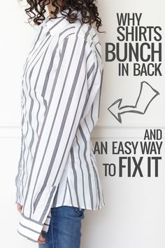 Why Shirts Bunch In Back & An Easy Way To Fix It   Alterations Needed