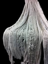 Deterioration shown through fabric