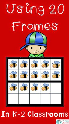 Are YOU using 20 frames in your classroom? These are so useful for so many things! Check out some of the ways I use them in K-2 classrooms to improve numeracy and build additive reasoning and place value!