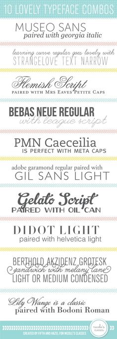 10 combos de typos qui ont de la gueule! | Craft ~ Your ~ HomeCraft ~ Your…