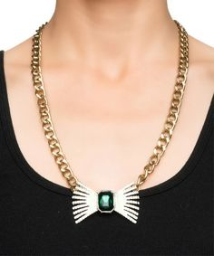 Alice Crystal Bow Necklace