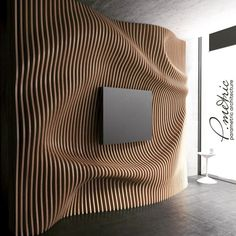 35 Fascinating Interior Wall Design Ideas - When you are in the process of decorating your home the topic of Interior Wall Design will leave many stumped. Walls today no longer have to have a sm. Wood Wall Design, Wall Panel Design, Wooden Wall Art, Wooden Walls, 3d Wall Panels, Interior Walls, Interior Design Living Room, Interior Decorating, Boutique Interior