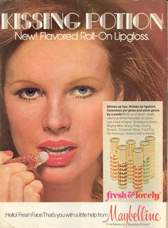 Some of the first lip gloss - it was pretty sticky and had a roller ball applicator. Remember these @Lisa Stephens?