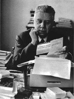 Eugenio Montale -   Italian poet, prose writer, editor and translator, and recipient of the 1975 Nobel Prize in Literature.