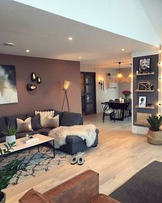 87 Neat and Cozy Living Room Ideas – Page 64 of 87 – Veguci Wohnzimmer Wohnzimmer Design Wohnzimmer Dekor Wohnung Home Living Room, Apartment Living, Interior Design Living Room, Living Room Designs, Design Interiors, Accent Walls In Living Room, Interior Livingroom, Design Room, Art Design