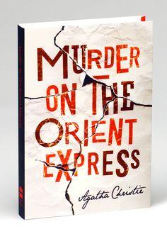 Agatha Christie Book-jackets by Daniel Stuffins, via Behance