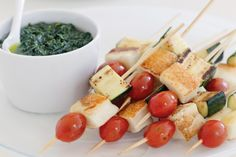 Vegetarian barbecue food has never been easier with these delicious grilled haloumi skewers.