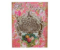 PLACA STEM BE HAPPY - 23X28CM