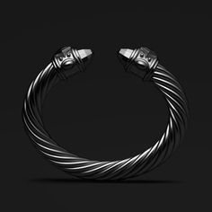 Cable Reimagined David Yurman Limited Edition Renaissance Bracelet In Black Aluminum