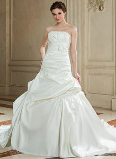 Ball-Gown Strapless Chapel Train Satin Wedding Dress With Ruffle Lace Beading Bow(s) (002000589) http://www.dressdepot.com/Ball-Gown-Strapless-Chapel-Train-Satin-Wedding-Dress-With-Ruffle-Lace-Beading-Bow-S-002000589-g589 Wedding Dress Wedding Dresses #WeddingDress #WeddingDresses