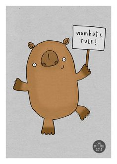 This poster. | 29 Totally Adorable Etsy Items For People Who Really Love Wombats