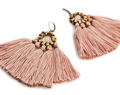 Tassel Earrings Solid Color Earrings Boho Earrings
