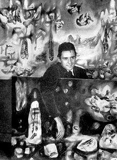 Roberto Matta (Chilean-born French Surrealist/Abstract Expressionist Painter, 1911-2002)