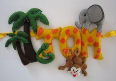 Plaque de porte Safari : Décoration pour enfants par sweetfelt