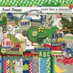 Sweet Shoppe Designs::Digital Scrap Kits::Rawr like a Dinosaur by Mari Koegelenberg