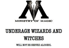 Underage Wizards & Witches Poster by MagicalEmporium on Etsy, £4.00