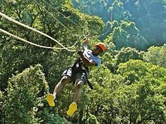 Zip Line in Durban, South Africa. Ziplining, or as we call it in South Africa, foefie slides, are similar to a flying fox - Dirty Boots Adventure Activities, Adventure Tours, African Tree, Top Tours, Shark Diving, Kwazulu Natal, Recreational Activities, Paragliding, Amazing Adventures