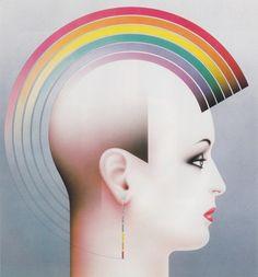 Abstract Art - Vintage 70s Rainbow