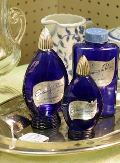 Evening in Paris perfume  was sold in the dime stores in the 50's ... now the bottles are prized collectables.