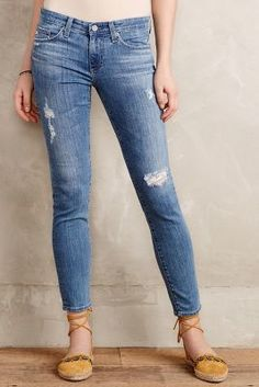 AG Stevie Ankle Jeans Light Denim Denim AG jeans have been my fav for about 12 years! They fit my shape perfectlyyyy! And these are super cute..