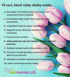10 vecí, ktoré robia všetky matky | Najmama.sk