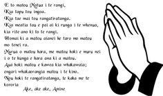 The lords prayer in Maori